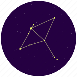 aquila, constellation, eagle, sky, stars icon