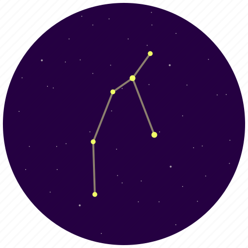 constellation, perseus, sky, stars icon