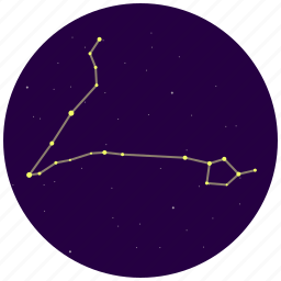 constellation, pisces, sky, stars icon