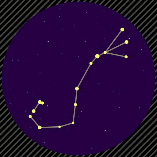constellation, scorpius, sky, stars icon