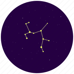 constellation, sagittarius, sky, stars icon