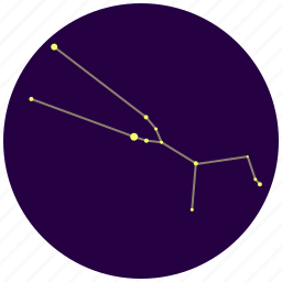 constellation, sky, stars, taurus icon
