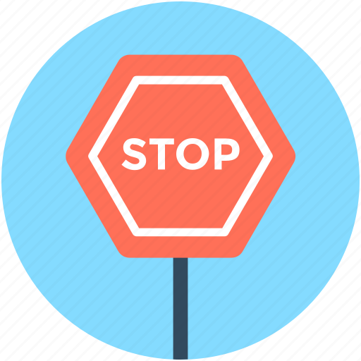 Drive stop, road sign, stop sign, traffic sign, warning icon - Download on Iconfinder