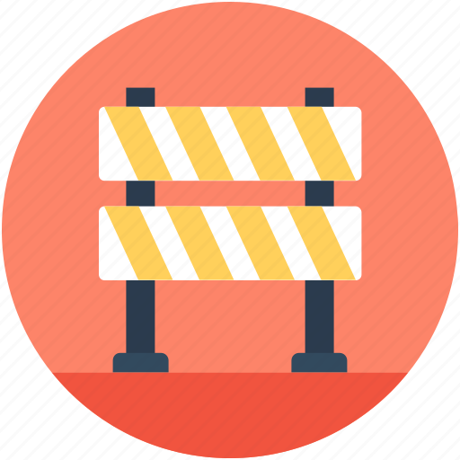 barrier, construction barrier, road barrier, street barrier, traffic barrier icon