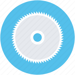 circular saw blade, power tool, saw blade, saw wheel icon