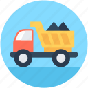 construction, dump truck, transport, truck, vehicle