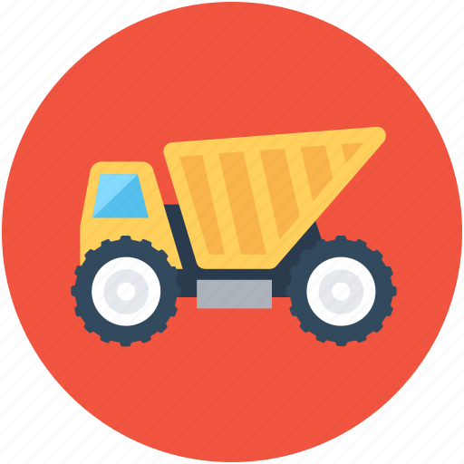 Construction, dump truck, transport, truck, vehicle icon - Download on Iconfinder