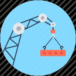crane, heavy machinery, lifter, lifting crane, luggage lifter icon