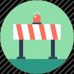 barrier, construction barrier, road barrier, street barrier, traffic barrier icon