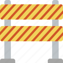 barrier, construction, road, traffic, work