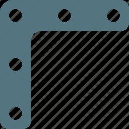 bracket, construction, metal work, steel icon
