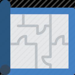 build, construction, develop, floor, plan, structure icon