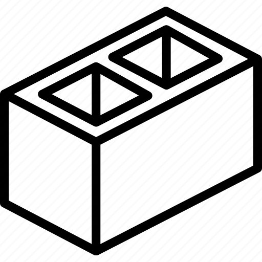 block, build, cinder, construction, supplies icon