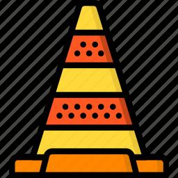cone, construction, road, traffic, work icon