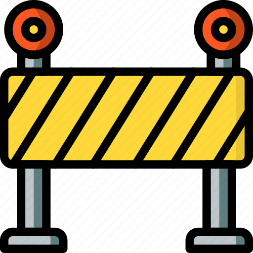 barrier, construction, road, traffic, work icon