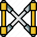 assemble, brace, construction, plan icon