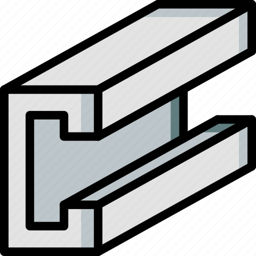 beam, build, c, construction, metal work, steel, structure icon