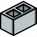block, build, cinder, construction, supplies icon