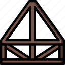 build, construction, develop, joist, roof, structure icon