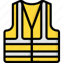 construction, high, jacket, ppe, protect, vis icon