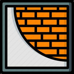 build, construction, develop, plastering, structure icon