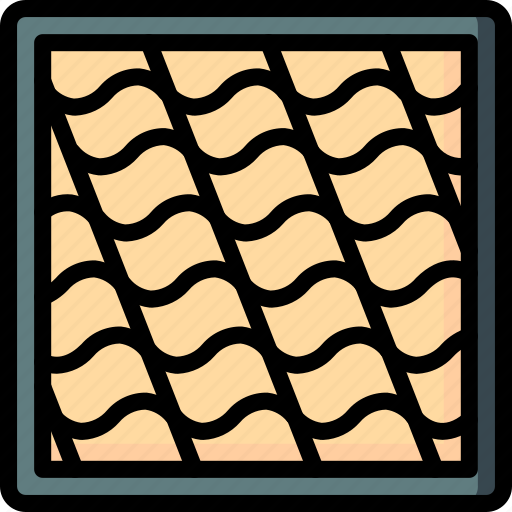 build, construction, equipment, roof, supplies, tiles icon
