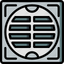 construction, drain icon