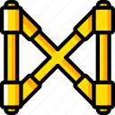 assemble, brace, construction, plan, scaffolding icon