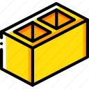 block, build, cinder, construction, develop, structure icon