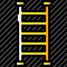 build, construction, equipment, ladder icon