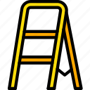 build, construction, equipment, ladder, step icon
