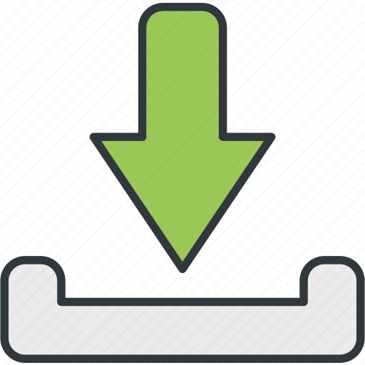 down, download, income, placingorder, put, receiving icon