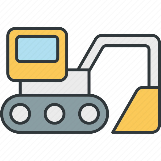 excavators, heavy, truck, trucks icon