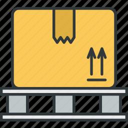 crates, goods, storage, up, warehouses icon