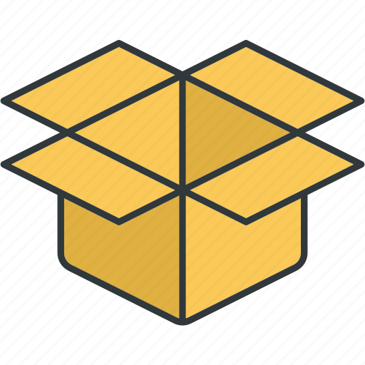 boxes, cartons, empty, open, packaging, parcels icon