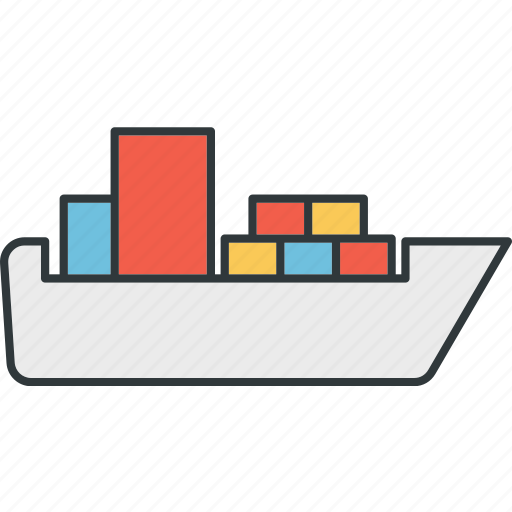 containers, ships, transport, water icon