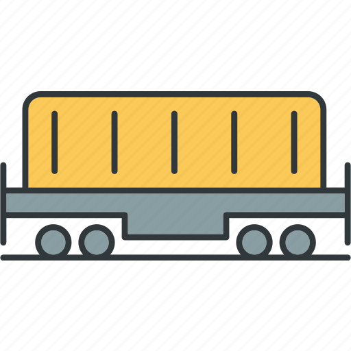 containers, flatbed, freight, transport, vehicles icon