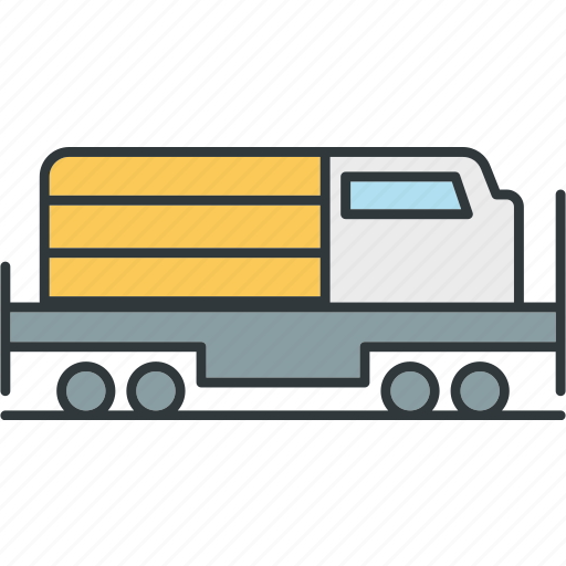 flatbed, freight, transporter icon