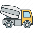 concrete, mixer, truck icon
