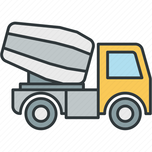 concrete, mixer, truck icon