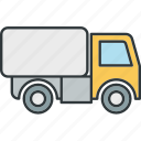 road, truck, van, vehicle icon