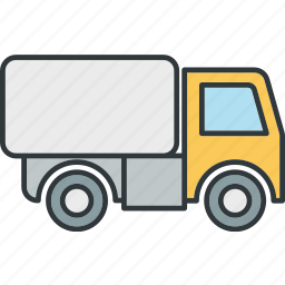 road, truck, van, vehicle icon