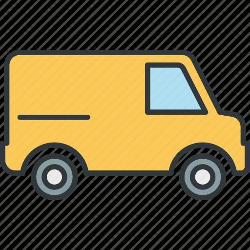 transport, transportation, truck, van icon