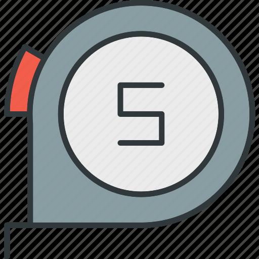 length, measure, ruler, tape icon