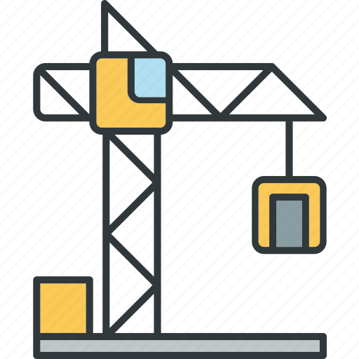 building, construction, crane, tower icon