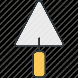 building, cement, property, shovel icon
