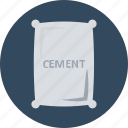 cement, cement bag, cement sack, concrete, construction materials, sack icon