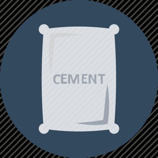 cement, cement bag, cement sack, concrete, construction materials, sack icon