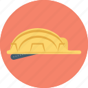 builder hat, hard hat, headgear, miner cap, worker cap icon