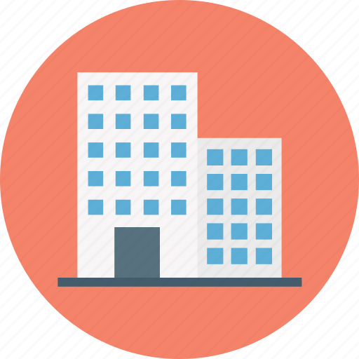 accommodation, apartments, building, flats, hotel, housing society icon